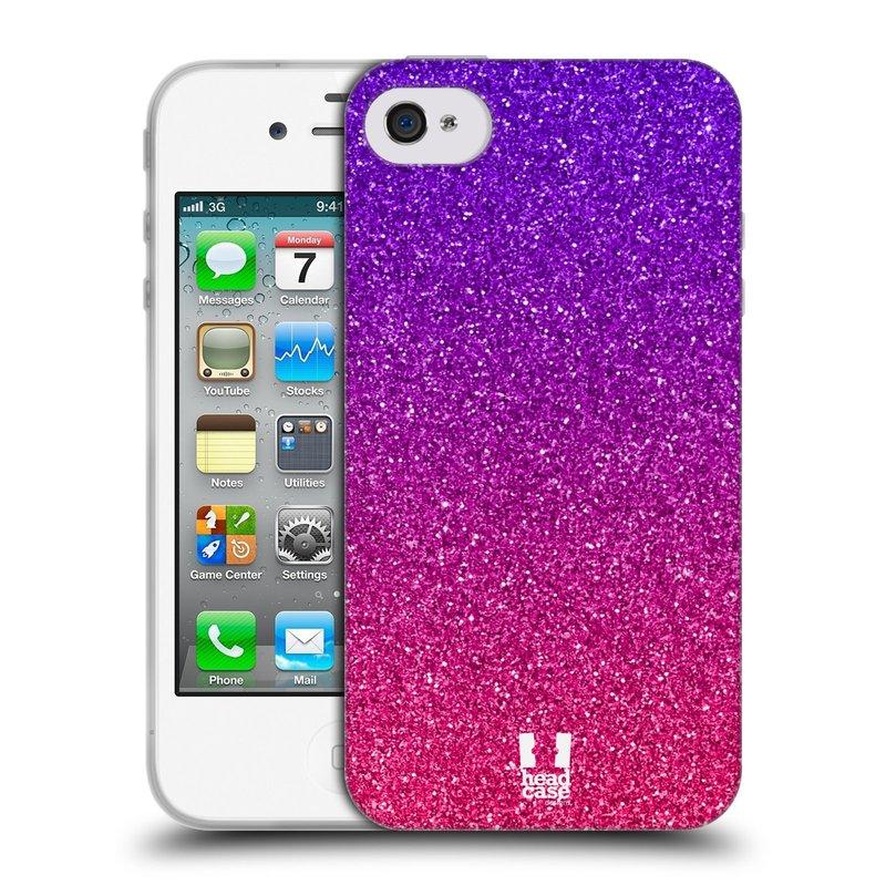 Silikonové pouzdro na mobil Apple iPhone 4 a 4S HEAD CASE MIX PINK (Silikonový kryt či obal na mobilní telefon Apple iPhone 4 a 4S)