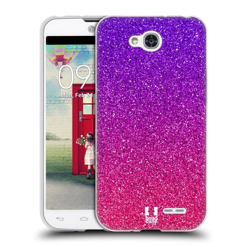 Silikonové pouzdro na mobil LG L90 HEAD CASE MIX PINK (Silikonový kryt či obal na mobilní telefon LG L90 D405n)