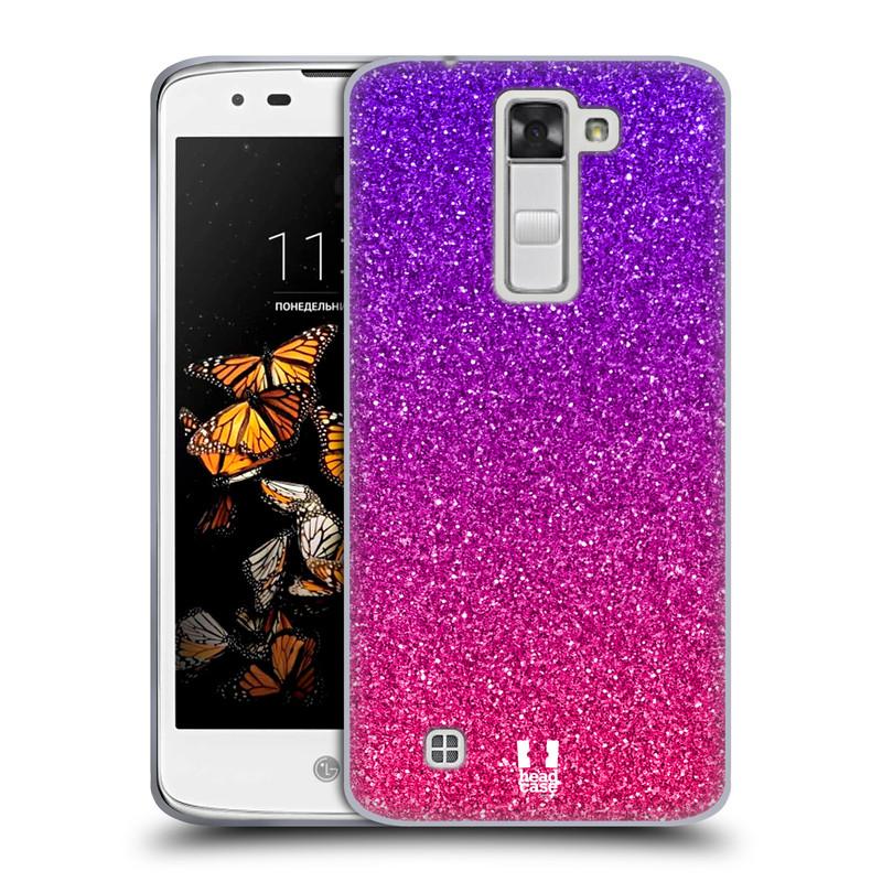 Silikonové pouzdro na mobil LG K8 HEAD CASE MIX GLITTER (Silikonový kryt či obal na mobilní telefon LG K8 K350)