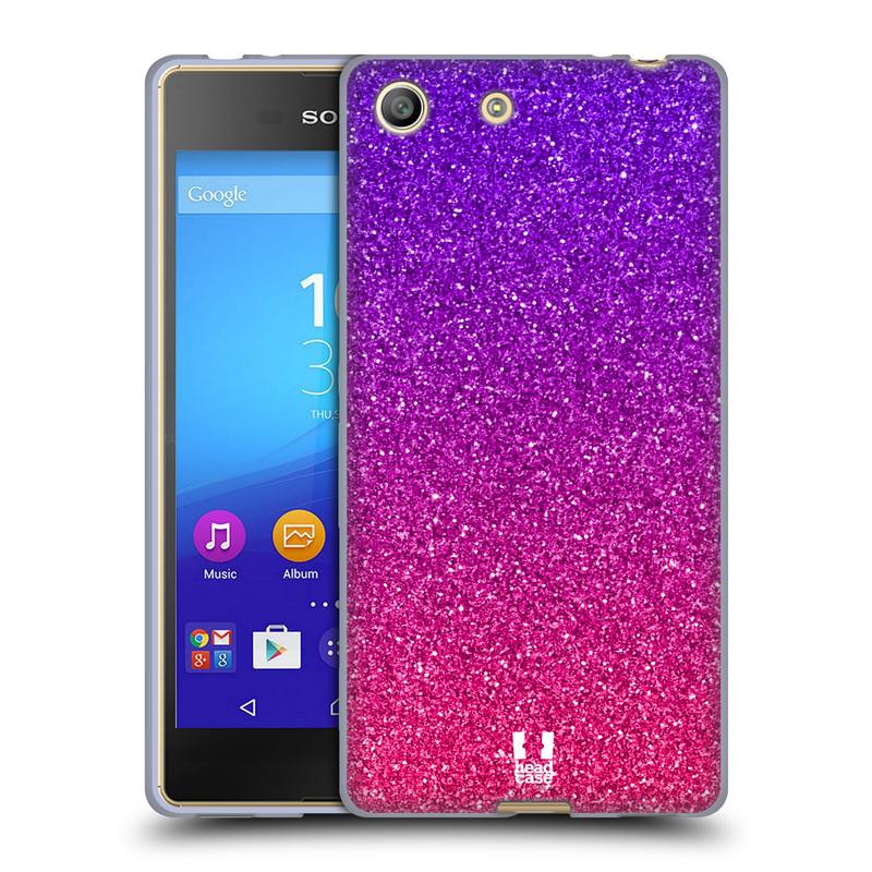 Silikonové pouzdro na mobil Sony Xperia M5 HEAD CASE MIX PINK (Silikonový kryt či obal na mobilní telefon Sony Xperia M5 Dual SIM / Aqua)