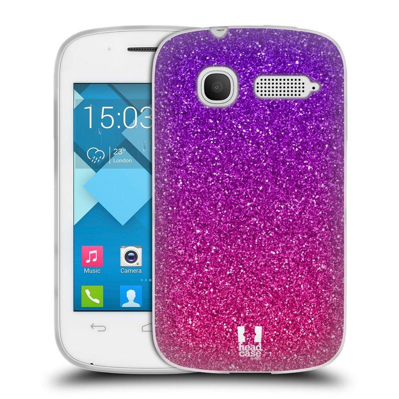 Silikonové pouzdro na mobil Alcatel One Touch Pop C1 HEAD CASE MIX PINK (Silikonový kryt či obal na mobilní telefon Alcatel OT-4015D POP C1)