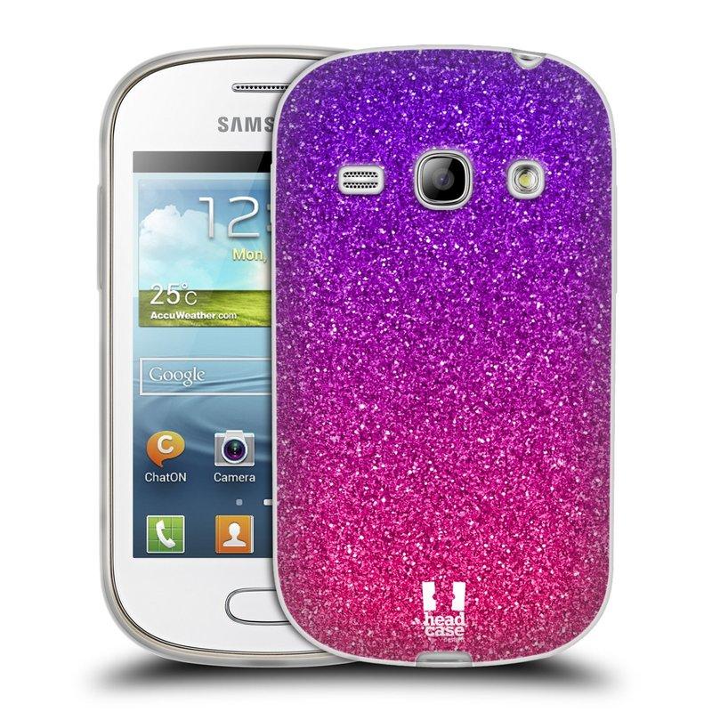 Silikonové pouzdro na mobil Samsung Galaxy Fame HEAD CASE MIX PINK (Silikonový kryt či obal na mobilní telefon Samsung Galaxy Fame GT-S6810)