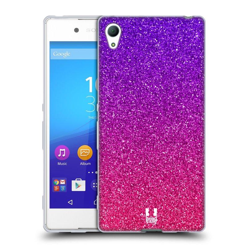 Silikonové pouzdro na mobil Sony Xperia Z3+ (Plus) HEAD CASE MIX PINK (Silikonový kryt či obal na mobilní telefon Sony Xperia Z3+ / Z4 E6553)