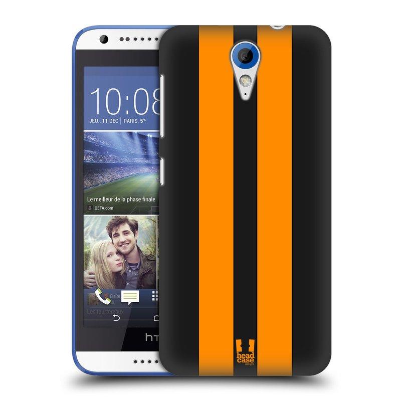 Plastové pouzdro na mobil HTC Desire 620 HEAD CASE ŽLUTÉ A ČERNÉ PRUHY (Kryt či obal na mobilní telefon HTC Desire 620)