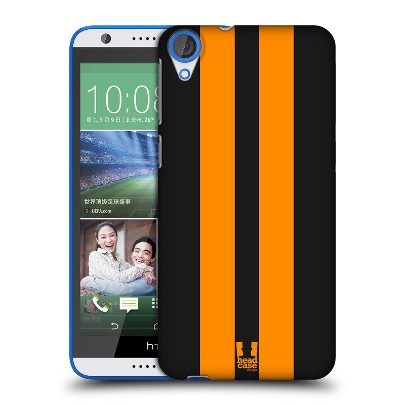 Plastové pouzdro na mobil HTC Desire 820 HEAD CASE ŽLUTÉ A ČERNÉ PRUHY (Kryt či obal na mobilní telefon HTC Desire 820)