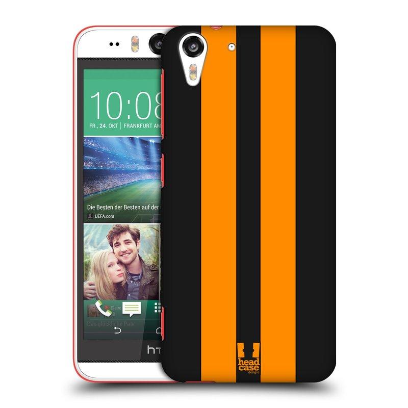 Plastové pouzdro na mobil HTC Desire EYE HEAD CASE ŽLUTÉ A ČERNÉ PRUHY (Kryt či obal na mobilní telefon HTC Desire EYE)