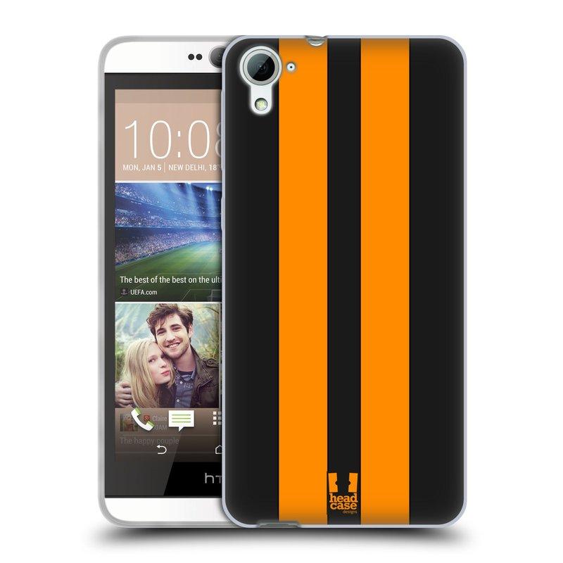 Silikonové pouzdro na mobil HTC Desire 826 HEAD CASE ŽLUTÉ A ČERNÉ PRUHY (Silikonový kryt či obal na mobilní telefon HTC Desire 826 Dual SIM)