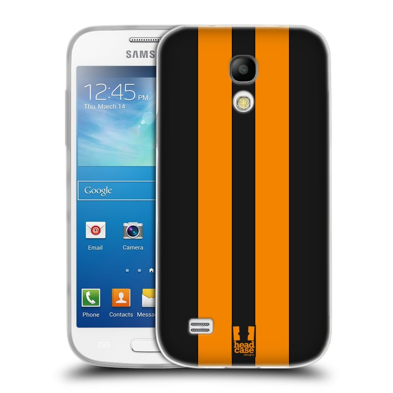 Silikonové pouzdro na mobil Samsung Galaxy S4 Mini VE HEAD CASE ŽLUTÉ A ČERNÉ PRUHY (Silikonový kryt či obal na mobilní telefon Samsung Galaxy S4 Mini VE GT-i9195i (nepasuje na verzi Black Edition))