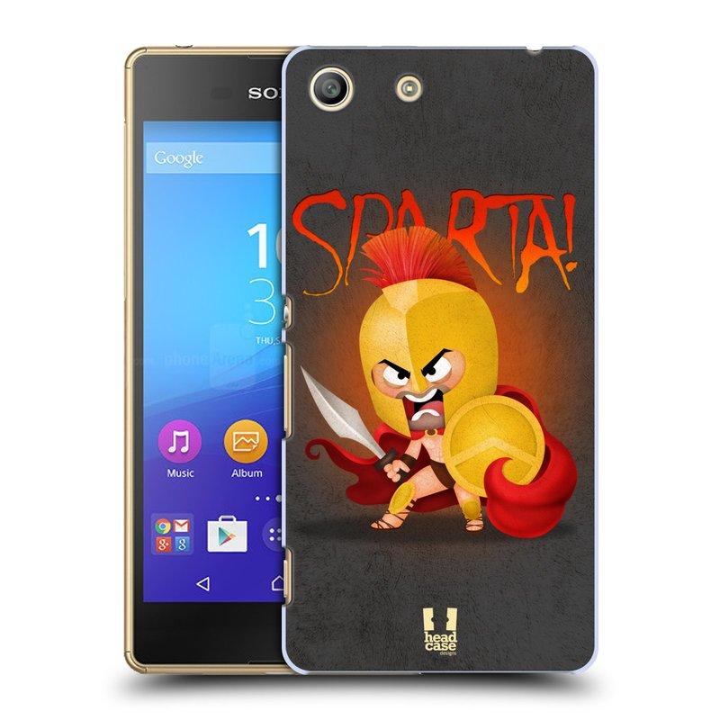 Plastové pouzdro na mobil Sony Xperia M5 HEAD CASE Sparta (Kryt či obal na mobilní telefon Sony Xperia M5 Aqua)
