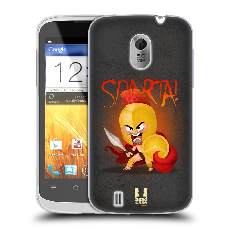 Silikonové pouzdro na mobil ZTE Blade III HEAD CASE Sparta (Silikonový kryt či obal na mobilní telefon ZTE Blade 3)