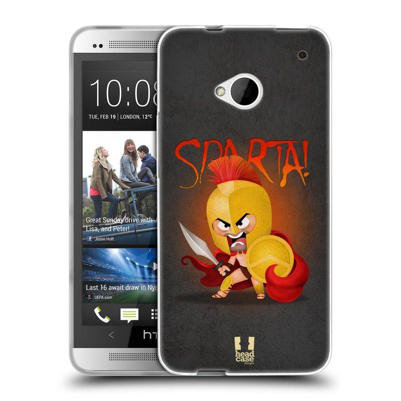 Silikonové pouzdro na mobil HTC ONE M7 HEAD CASE Sparta (Silikonový kryt či obal na mobilní telefon HTC ONE M7)
