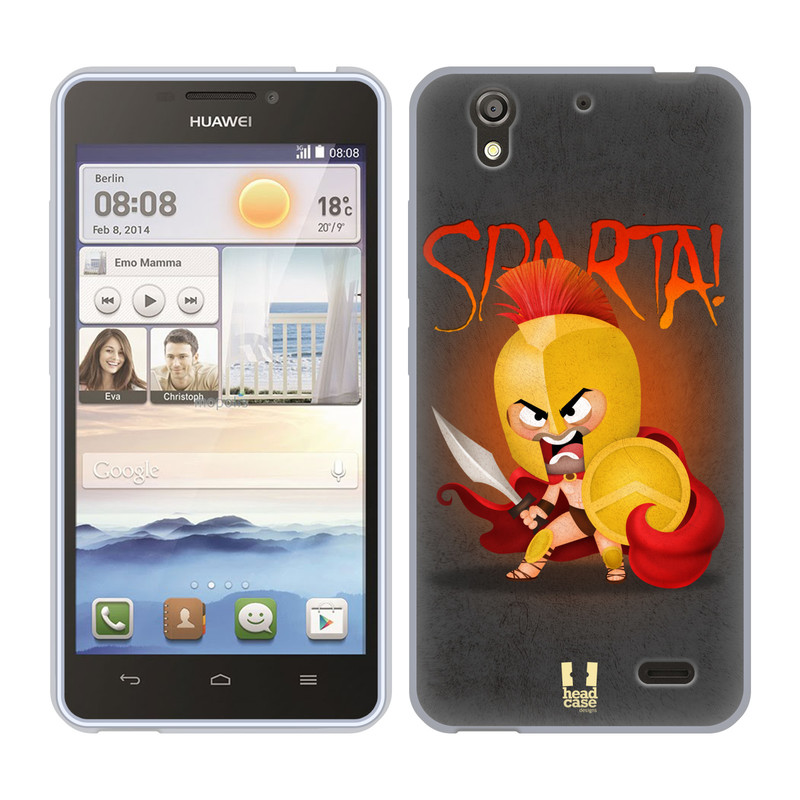 Silikonové pouzdro na mobil Huawei Ascend Y530 HEAD CASE Sparta (Silikonový kryt či obal na mobilní telefon Huawei Ascend Y530)