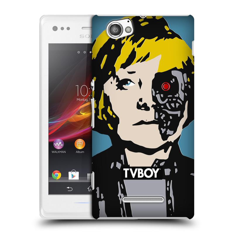 Plastové pouzdro na mobil Sony Xperia M C1905 HEAD CASE - TVBOY - Merkenator - Angela Merkelová (Kryt či obal na mobilní telefon s licencovaným motivem TVBOY pro Sony Xperia M )