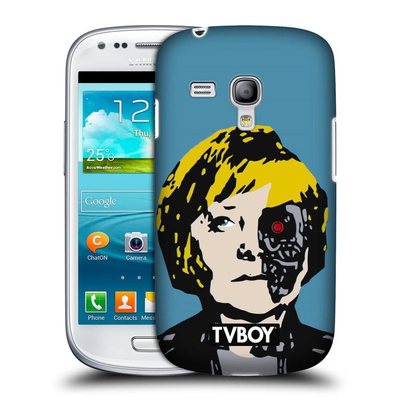 Plastové pouzdro na mobil Samsung Galaxy S III Mini VE HEAD CASE - TVBOY - Merkenator - Angela Merkelová (Kryt či obal na mobilní telefon s licencovaným motivem TVBOY pro Samsung Galaxy S3 Mini VE GT-i8200)
