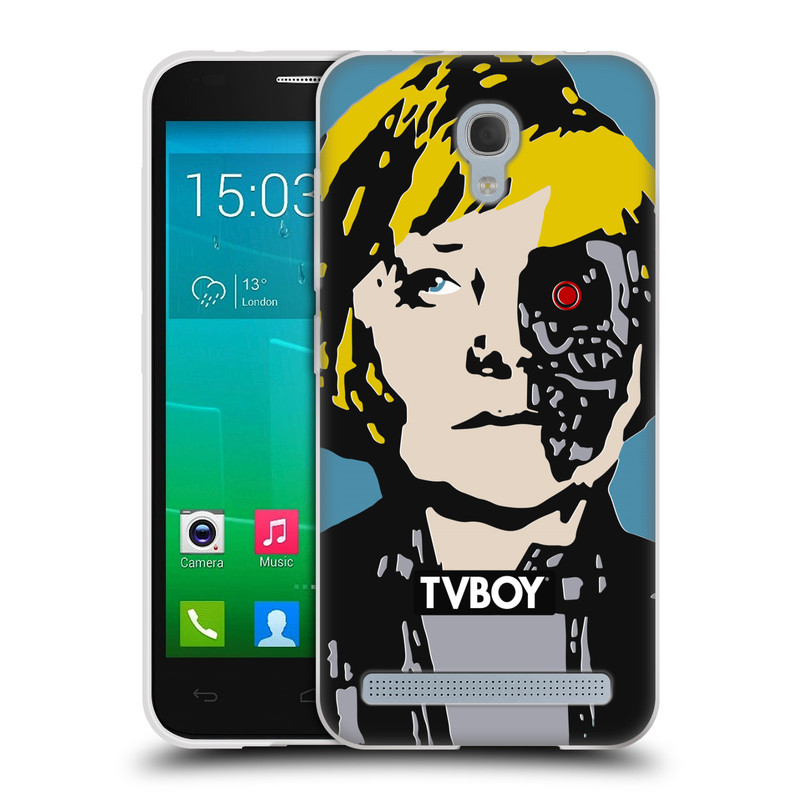 Silikonové pouzdro na mobil Alcatel One Touch Idol 2 Mini S 6036Y HEAD CASE - TVBOY - Merkenator - Angela Merkelová (Silikonový kryt či obal na mobilní telefon s licencovaným motivem TVBOY pro Alcatel Idol 2 Mini S OT-6036Y)