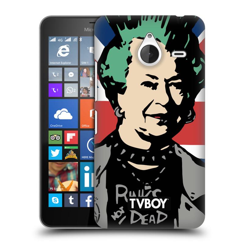 Plastové pouzdro na mobil Microsoft Lumia 640 XL HEAD CASE - TVBOY - Punková Královna (Kryt či obal na mobilní telefon s licencovaným motivem TVBOY pro Microsoft Lumia 640 XL)