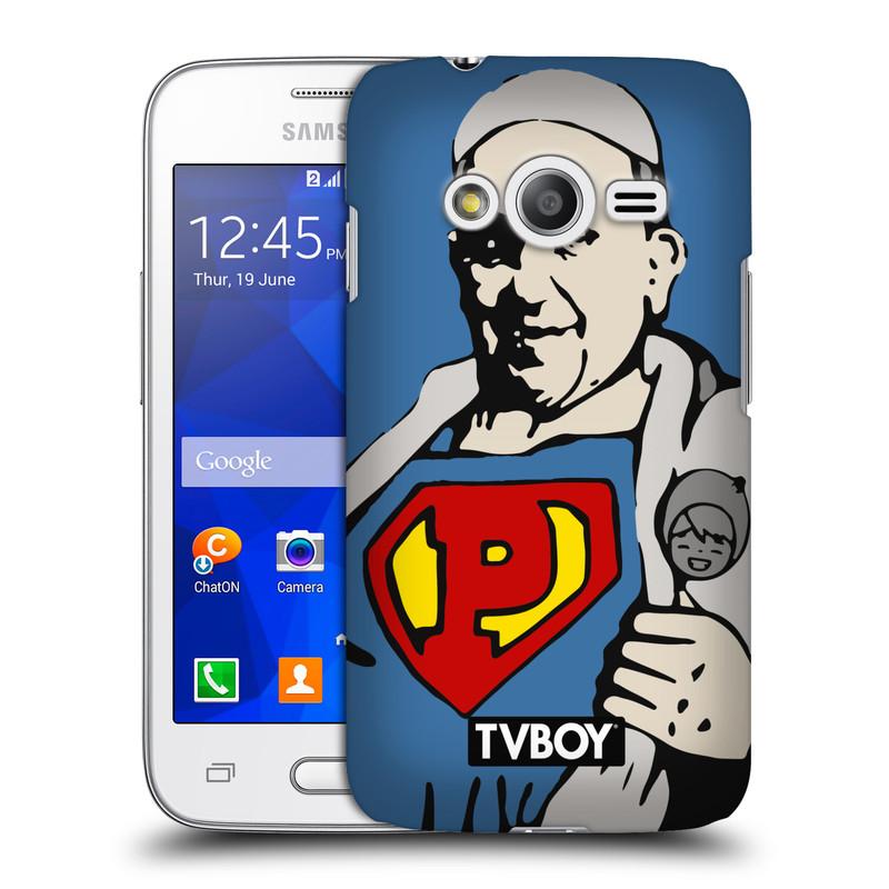 Plastové pouzdro na mobil Samsung Galaxy Trend 2 Lite HEAD CASE - TVBOY - Super Papež (Kryt či obal na mobilní telefon s licencovaným motivem TVBOY pro Samsung Galaxy Trend 2 Lite SM-G318)