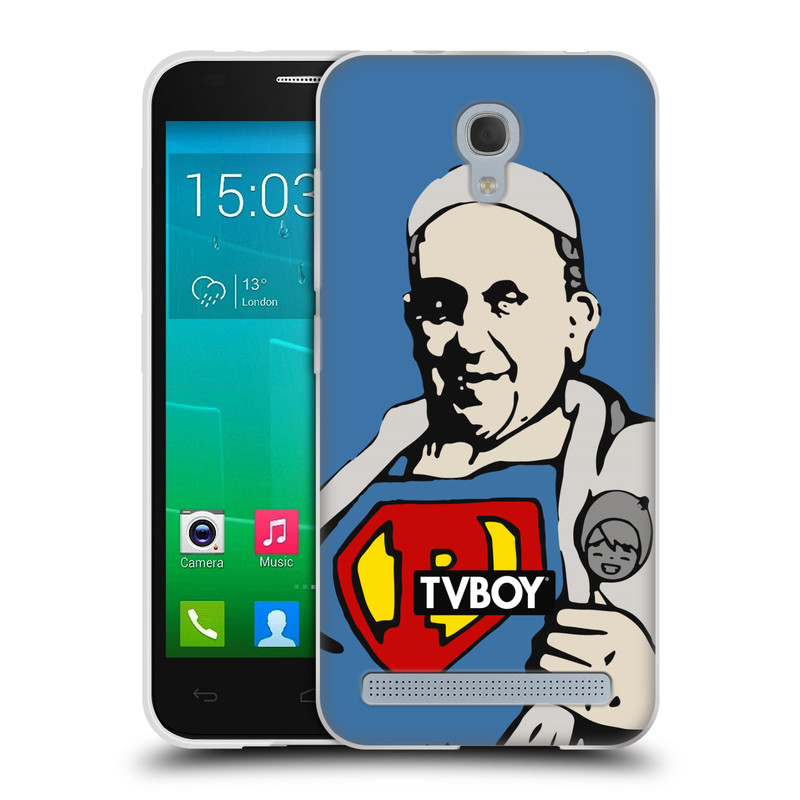 Silikonové pouzdro na mobil Alcatel One Touch Idol 2 Mini S 6036Y HEAD CASE - TVBOY - Super Papež (Silikonový kryt či obal na mobilní telefon s licencovaným motivem TVBOY pro Alcatel Idol 2 Mini S OT-6036Y)
