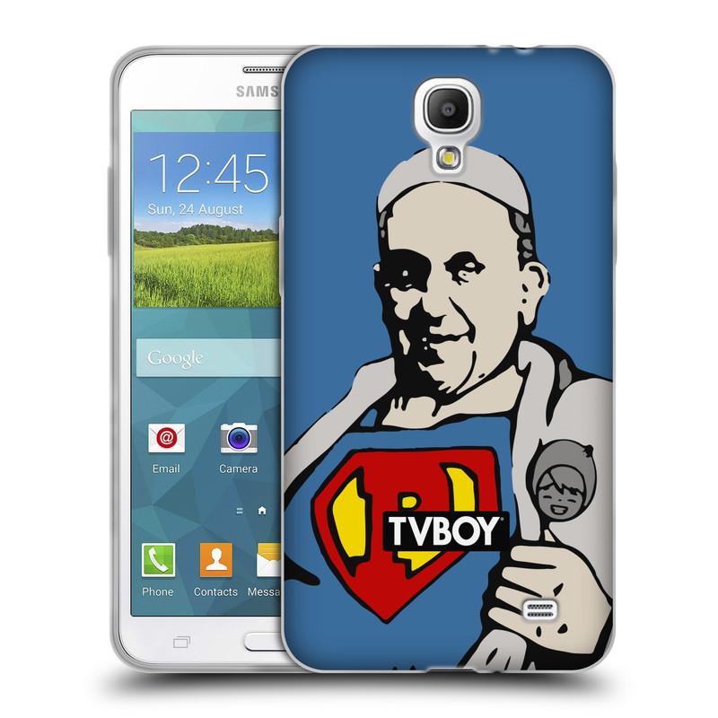 Silikonové pouzdro na mobil Samsung Galaxy Grand Mega 2 HEAD CASE - TVBOY - Super Papež (Silikonový kryt či obal na mobilní telefon s licencovaným motivem TVBOY pro Samsung Galaxy Grand Mega 2 SM-G750)