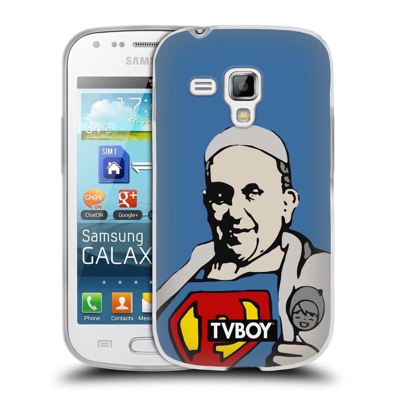 Silikonové pouzdro na mobil Samsung Galaxy S Duos 2 HEAD CASE - TVBOY - Super Papež (Silikonový kryt či obal na mobilní telefon s licencovaným motivem TVBOY pro Samsung Galaxy S Duos 2 GT-S7582)