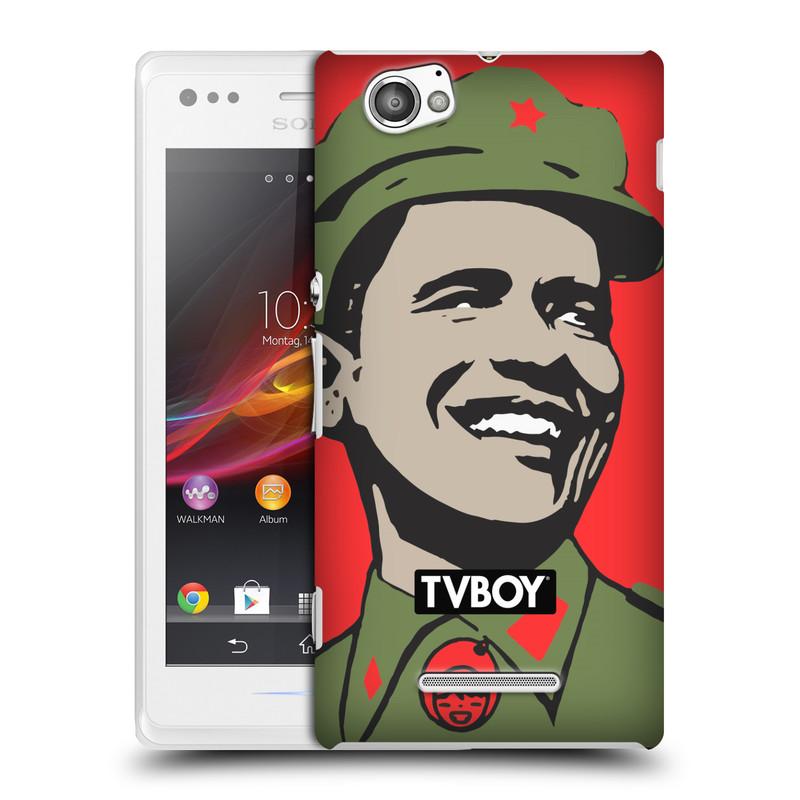 Plastové pouzdro na mobil Sony Xperia M C1905 HEAD CASE - TVBOY - Obamao - Barack Obama (Kryt či obal na mobilní telefon s licencovaným motivem TVBOY pro Sony Xperia M )