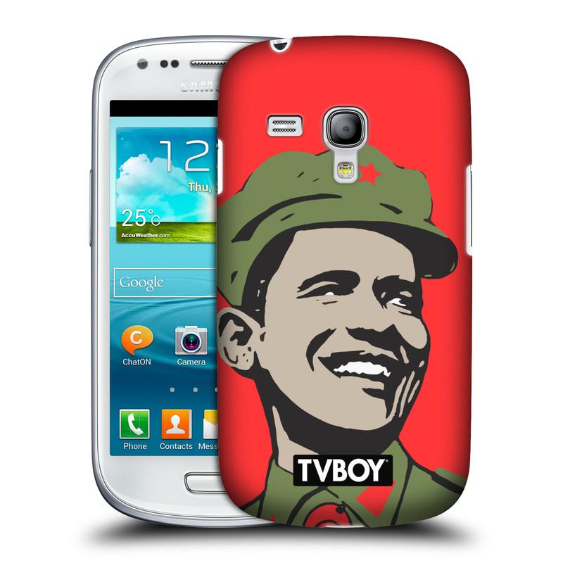 Plastové pouzdro na mobil Samsung Galaxy S III Mini VE HEAD CASE - TVBOY - Obamao - Barack Obama (Kryt či obal na mobilní telefon s licencovaným motivem TVBOY pro Samsung Galaxy S3 Mini VE GT-i8200)