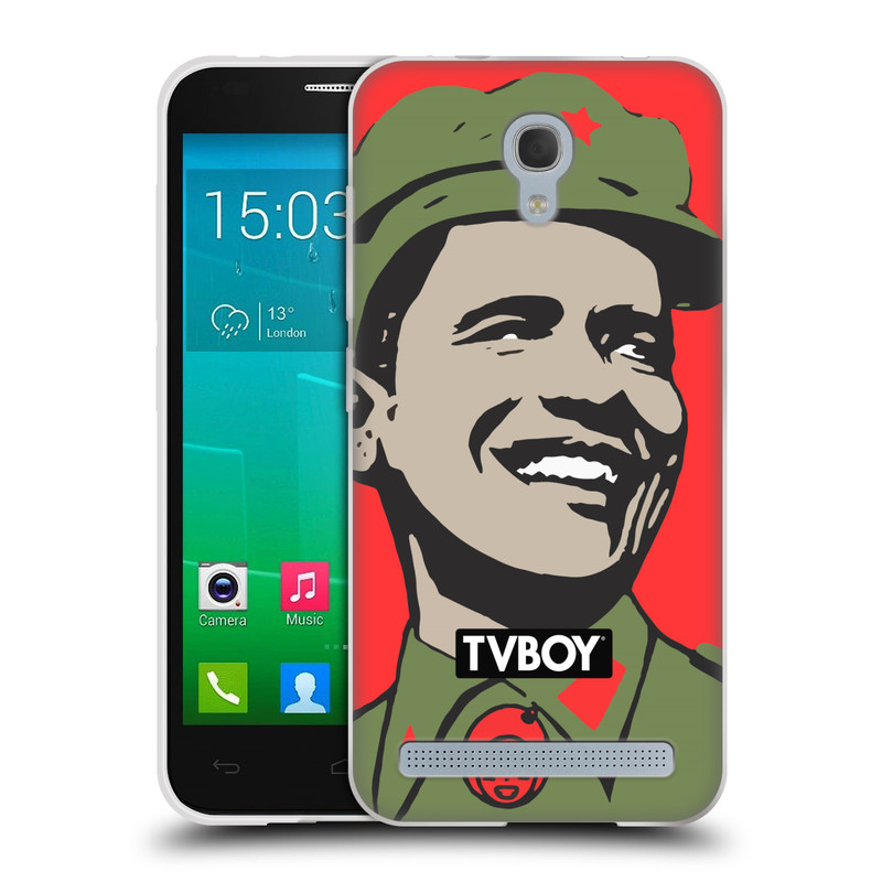 Silikonové pouzdro na mobil Alcatel One Touch Idol 2 Mini S 6036Y HEAD CASE - TVBOY - Obamao - Barack Obama (Silikonový kryt či obal na mobilní telefon s licencovaným motivem TVBOY pro Alcatel Idol 2 Mini S OT-6036Y)