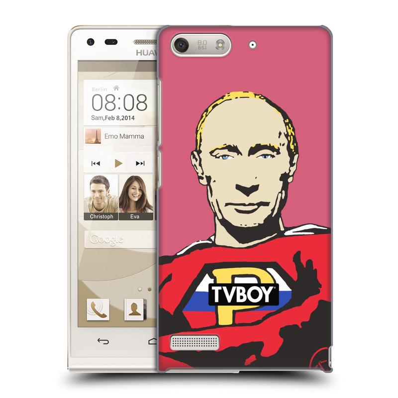 Plastové pouzdro na mobil Huawei Ascend G6 HEAD CASE - TVBOY - Super Putin (Kryt či obal na mobilní telefon s licencovaným motivem TVBOY pro Huawei Ascend G6 bez LTE)