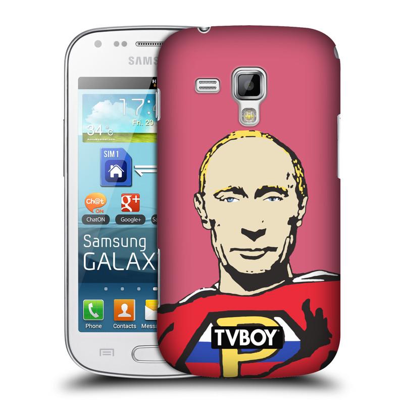 Plastové pouzdro na mobil Samsung Galaxy S Duos 2 HEAD CASE - TVBOY - Super Putin (Kryt či obal na mobilní telefon s licencovaným motivem TVBOY pro Samsung Galaxy S Duos 2 GT-S7582)
