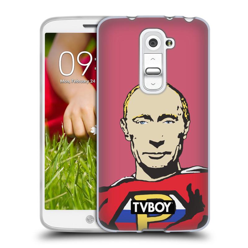 Silikonové pouzdro na mobil LG G2 Mini HEAD CASE - TVBOY - Super Putin (Silikonový kryt či obal na mobilní telefon s licencovaným motivem TVBOY pro LG G2 Mini D620)