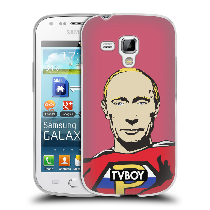 Silikonové pouzdro na mobil Samsung Galaxy S Duos 2 HEAD CASE - TVBOY - Super Putin (Silikonový kryt či obal na mobilní telefon s licencovaným motivem TVBOY pro Samsung Galaxy S Duos 2 GT-S7582)