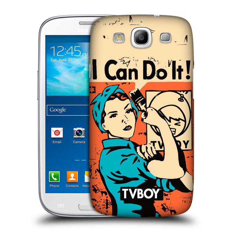 Plastové pouzdro na mobil Samsung Galaxy S III HEAD CASE - TVBOY - I can do it (Kryt či obal na mobilní telefon s licencovaným motivem TVBOY pro Samsung Galaxy S III GT-i9300)