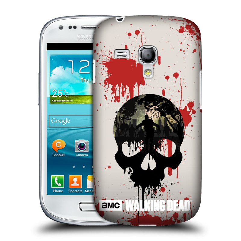 Plastové pouzdro na mobil Samsung Galaxy S III Mini VE HEAD CASE Živí mrtví - Lebka (Kryt či obal na mobilní telefon s licencovaným motivem Živí mrtví / The Walking Dead pro Samsung Galaxy S3 Mini VE GT-i8200)