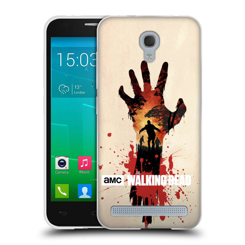Silikonové pouzdro na mobil Alcatel One Touch Idol 2 Mini S 6036Y HEAD CASE Živí mrtví - Ruka (Silikonový kryt či obal na mobilní telefon s licencovaným motivem Živí mrtví / The Walking Dead pro Alcatel Idol 2 Mini S OT-6036Y)