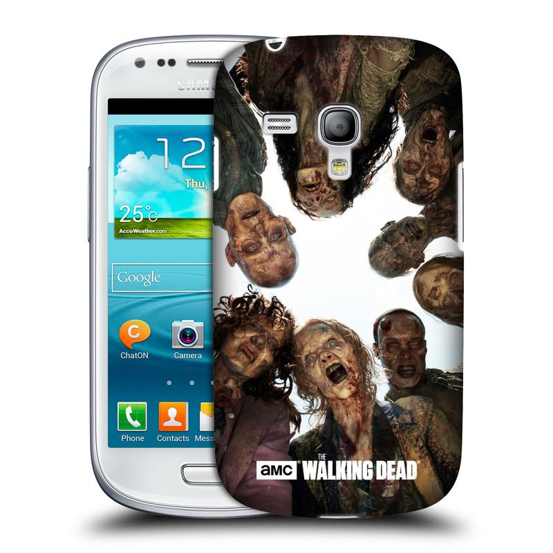 Plastové pouzdro na mobil Samsung Galaxy S III Mini VE HEAD CASE Živí mrtví - Walkers Group (Kryt či obal na mobilní telefon s licencovaným motivem Živí mrtví / The Walking Dead pro Samsung Galaxy S3 Mini VE GT-i8200)