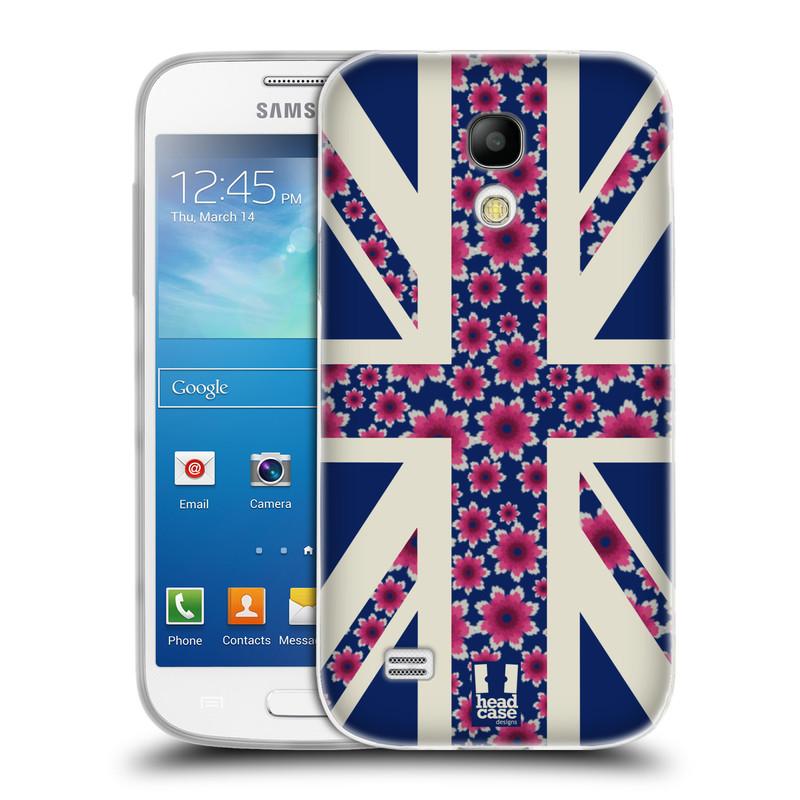 Silikonové pouzdro na mobil Samsung Galaxy S4 Mini VE HEAD CASE UNION FLORAL (Silikonový kryt či obal na mobilní telefon Samsung Galaxy S4 Mini VE GT-i9195i (nepasuje na verzi Black Edition))