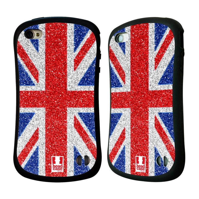 Nárazuvzdorné pouzdro na mobil Apple iPhone 4 a 4S HEAD CASE UNION GLITTER (Odolný nárazuvzdorný silikonový kryt či obal na mobilní telefon Apple iPhone 4 a 4S)