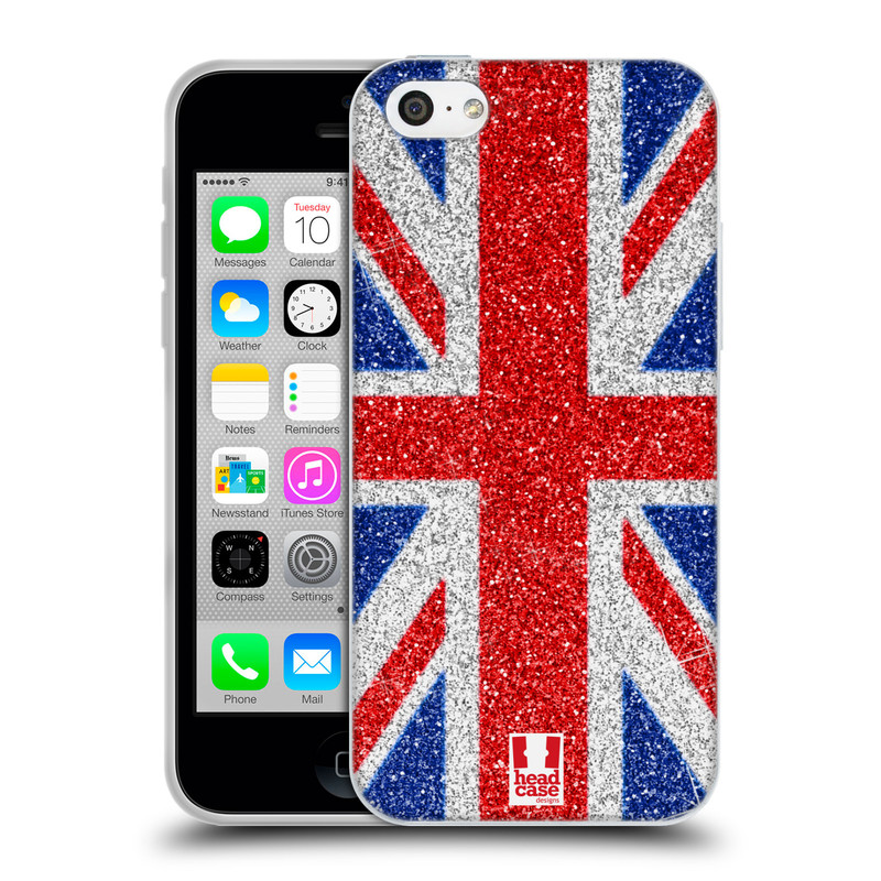 Silikonové pouzdro na mobil Apple iPhone 5C HEAD CASE UNION GLITTER (Silikonový kryt či obal na mobilní telefon Apple iPhone 5C)