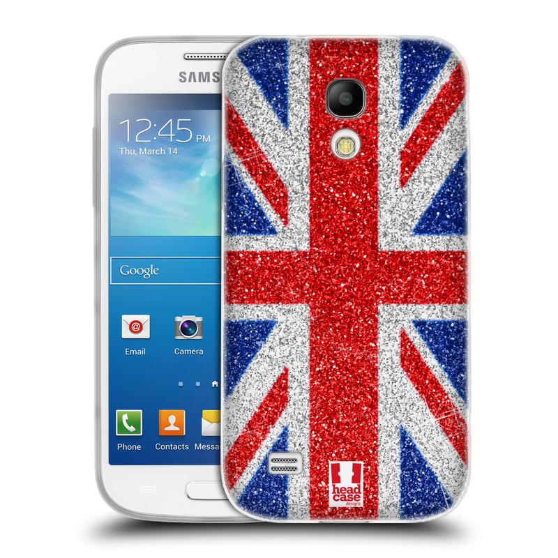 Silikonové pouzdro na mobil Samsung Galaxy S4 Mini VE HEAD CASE UNION GLITTER (Silikonový kryt či obal na mobilní telefon Samsung Galaxy S4 Mini VE GT-i9195i (nepasuje na verzi Black Edition))