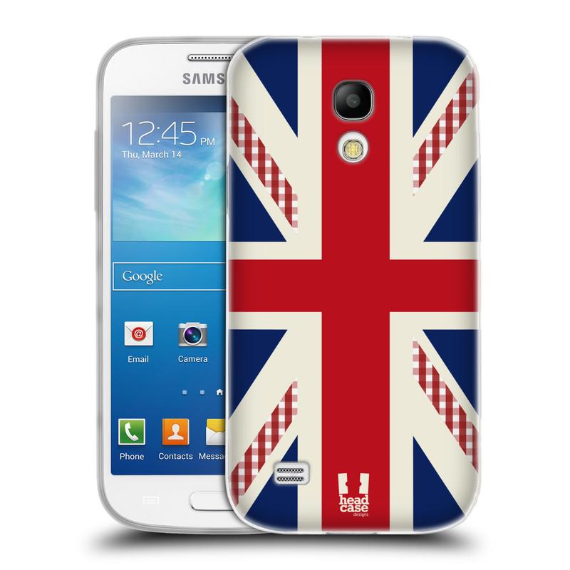 Silikonové pouzdro na mobil Samsung Galaxy S4 Mini VE HEAD CASE UNION GINHGAM (Silikonový kryt či obal na mobilní telefon Samsung Galaxy S4 Mini VE GT-i9195i (nepasuje na verzi Black Edition))