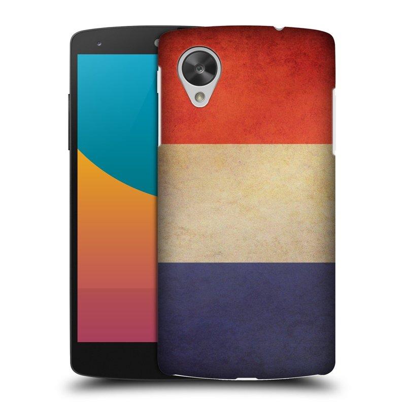 Plastové pouzdro na mobil LG Nexus 5 HEAD CASE VLAJKA FRANCIE (Kryt či obal na mobilní telefon LG Google Nexus 5 D821)