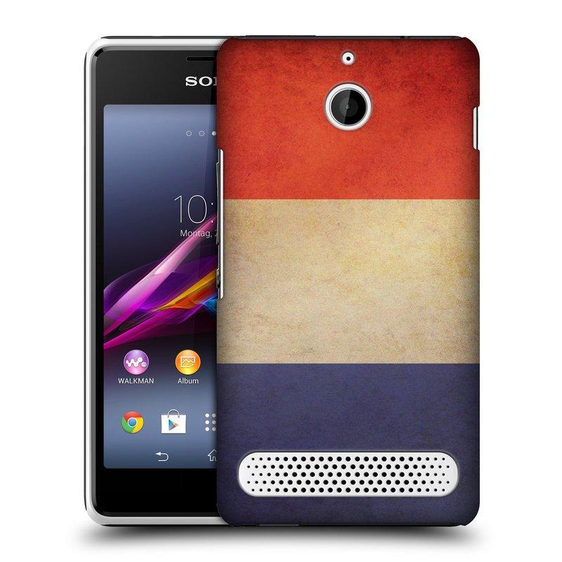 Plastové pouzdro na mobil Sony Xperia E1 D2005 HEAD CASE VLAJKA FRANCIE (Kryt či obal na mobilní telefon Sony Xperia E1 a E1 Dual)