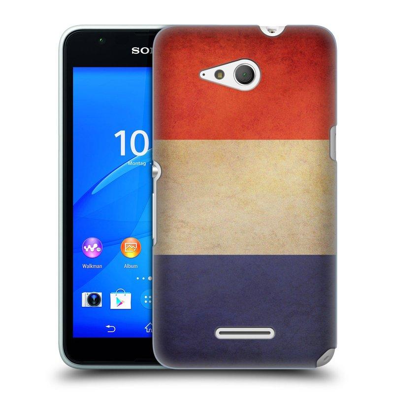 Plastové pouzdro na mobil Sony Xperia E4g E2003 HEAD CASE VLAJKA FRANCIE (Kryt či obal na mobilní telefon Sony Xperia E4g a E4g Dual SIM)