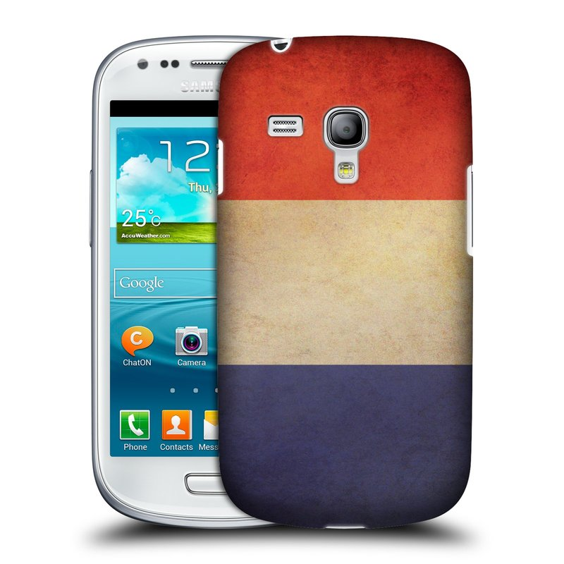 Plastové pouzdro na mobil Samsung Galaxy S III Mini HEAD CASE VLAJKA FRANCIE (Kryt či obal na mobilní telefon Samsung Galaxy S III Mini GT-i8190)