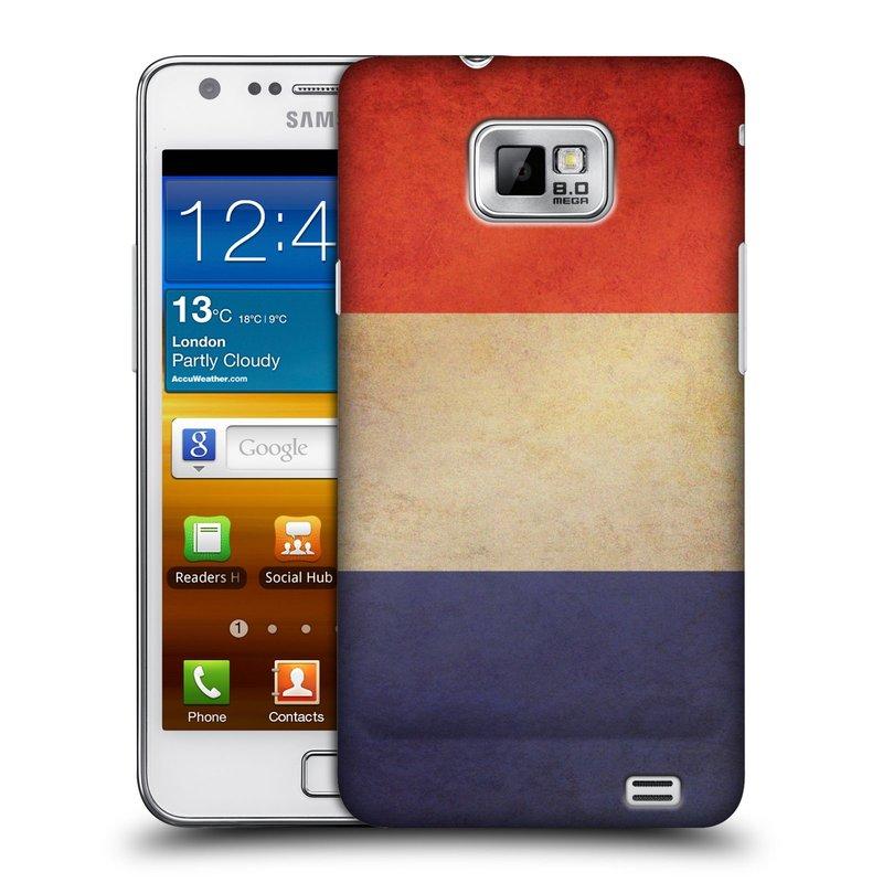 Plastové pouzdro na mobil Samsung Galaxy S II HEAD CASE VLAJKA FRANCIE (Kryt či obal na mobilní telefon Samsung Galaxy S II GT-i9100)