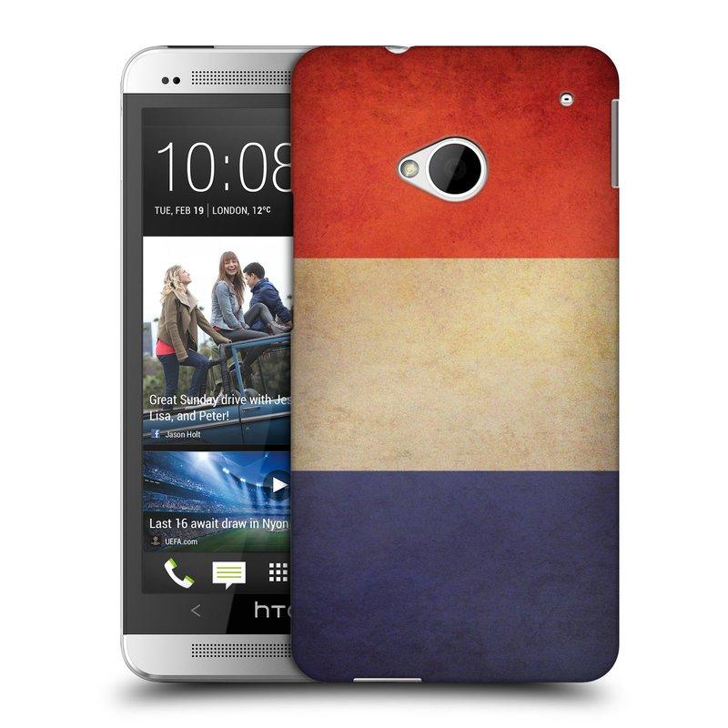 Plastové pouzdro na mobil HTC ONE M7 HEAD CASE VLAJKA FRANCIE (Kryt či obal na mobilní telefon HTC ONE M7)