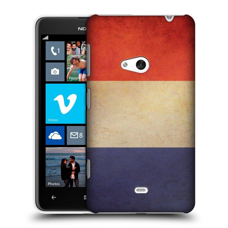 Plastové pouzdro na mobil Nokia Lumia 625 HEAD CASE VLAJKA FRANCIE (Kryt či obal na mobilní telefon Nokia Lumia 625)