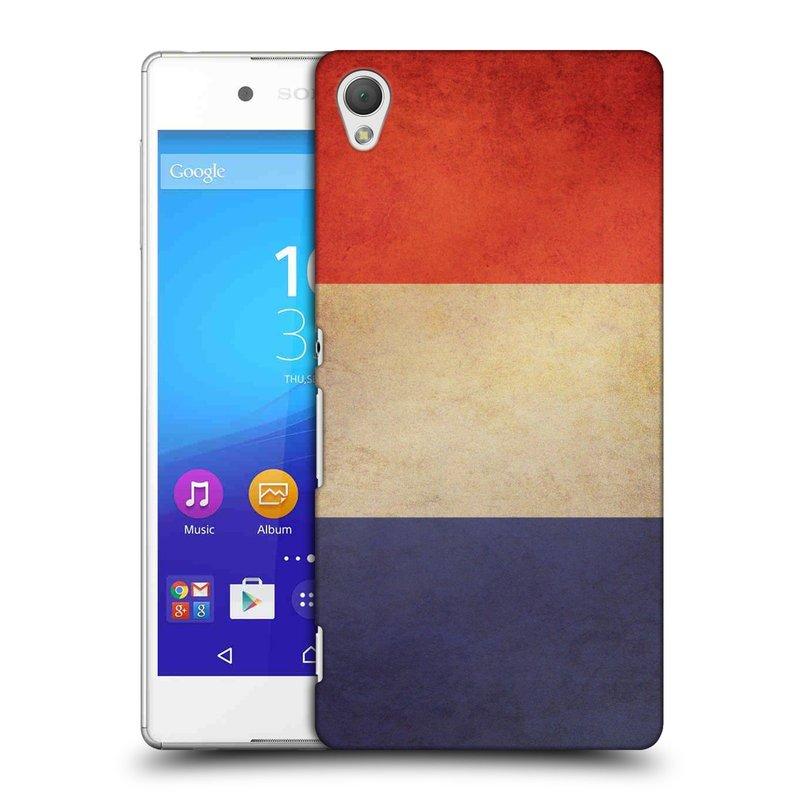 Plastové pouzdro na mobil Sony Xperia Z3+ (Plus) HEAD CASE VLAJKA FRANCIE (Kryt či obal na mobilní telefon Sony Xperia Z3+ a Sony Xperia Z4 )