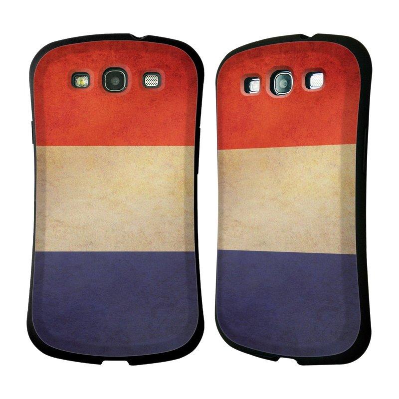 Nárazuvzdorné pouzdro na mobil Samsung Galaxy S III HEAD CASE VLAJKA FRANCIE (Odolný nárazuvzdorný silikonový kryt či obal na mobilní telefon Samsung Galaxy S III GT-i9300)