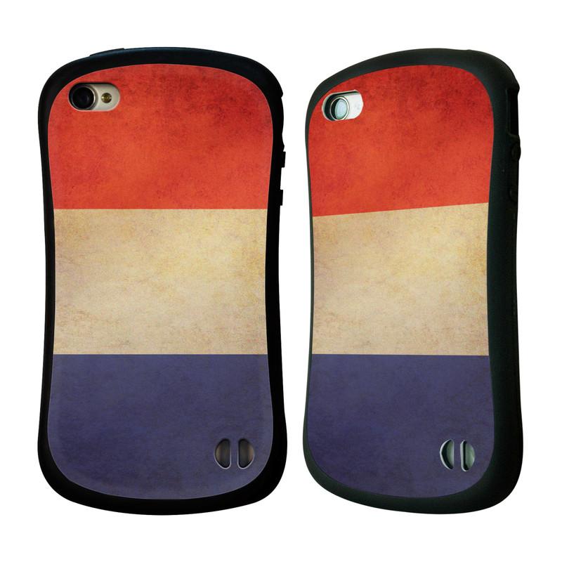 Nárazuvzdorné pouzdro na mobil Apple iPhone 4 a 4S HEAD CASE VLAJKA FRANCIE (Odolný nárazuvzdorný silikonový kryt či obal na mobilní telefon Apple iPhone 4 a 4S)